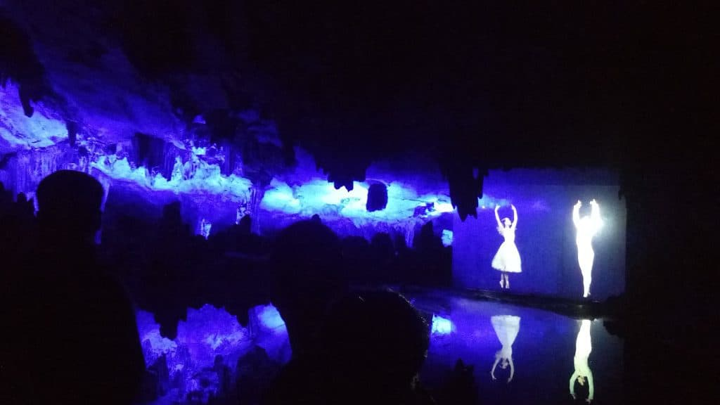 There was a dance performance sometime ago, held in this cave.