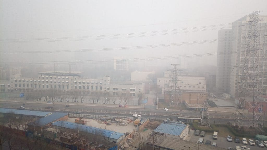 The view outside my window. Visability: three blocks, at most.